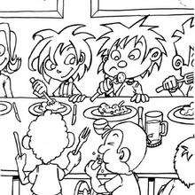 Lunch Coloring Pages