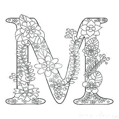 400x400 Letter M Coloring Pages W Coloring Page Letter M Coloring Page