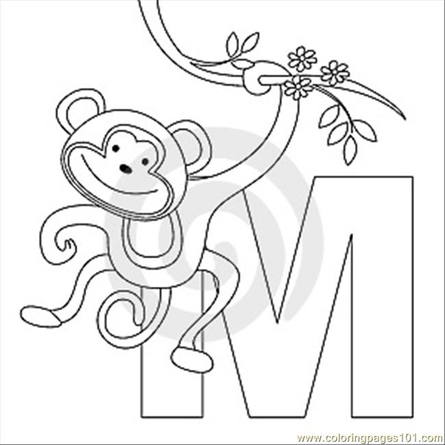 650x650 M Coloring Page Coloring Page