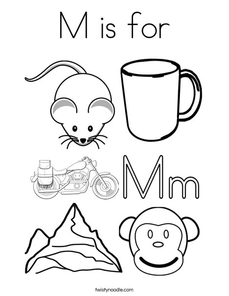 468x605 M Is For Coloring Page