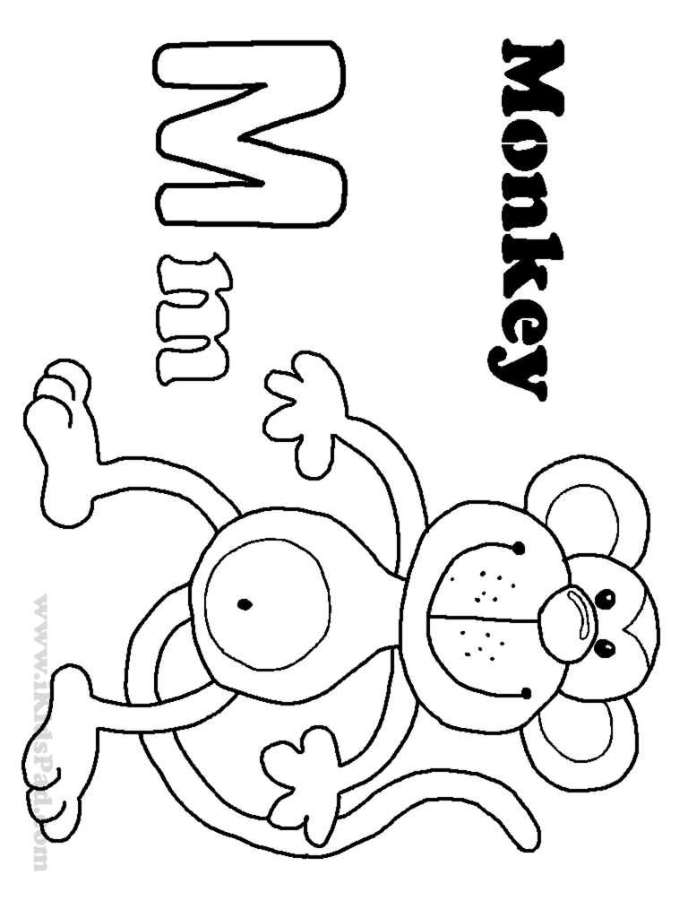 768x1024 Letter M Coloring Pages For Kids