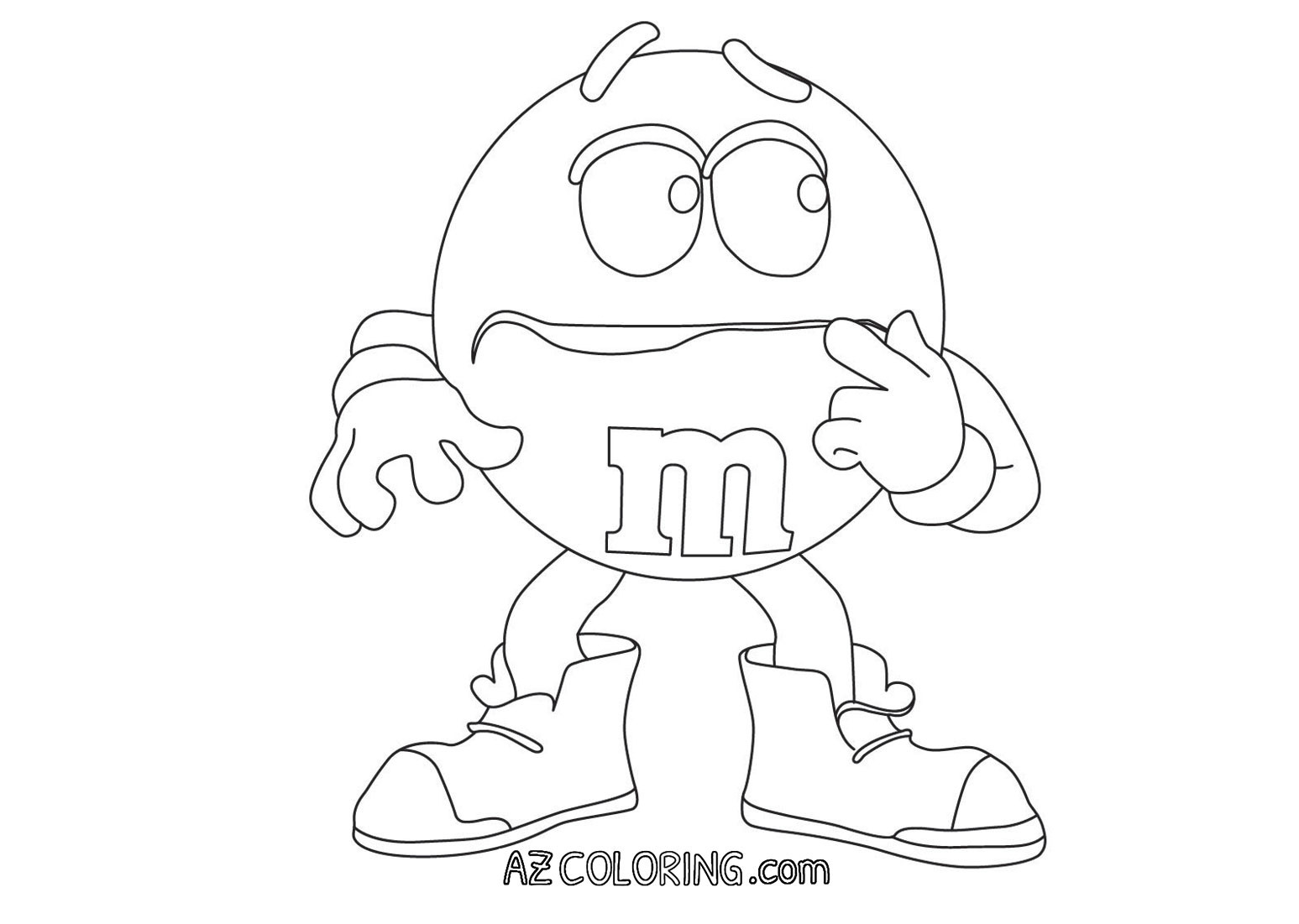 1547x1101 M Coloring Page Home Within Pages