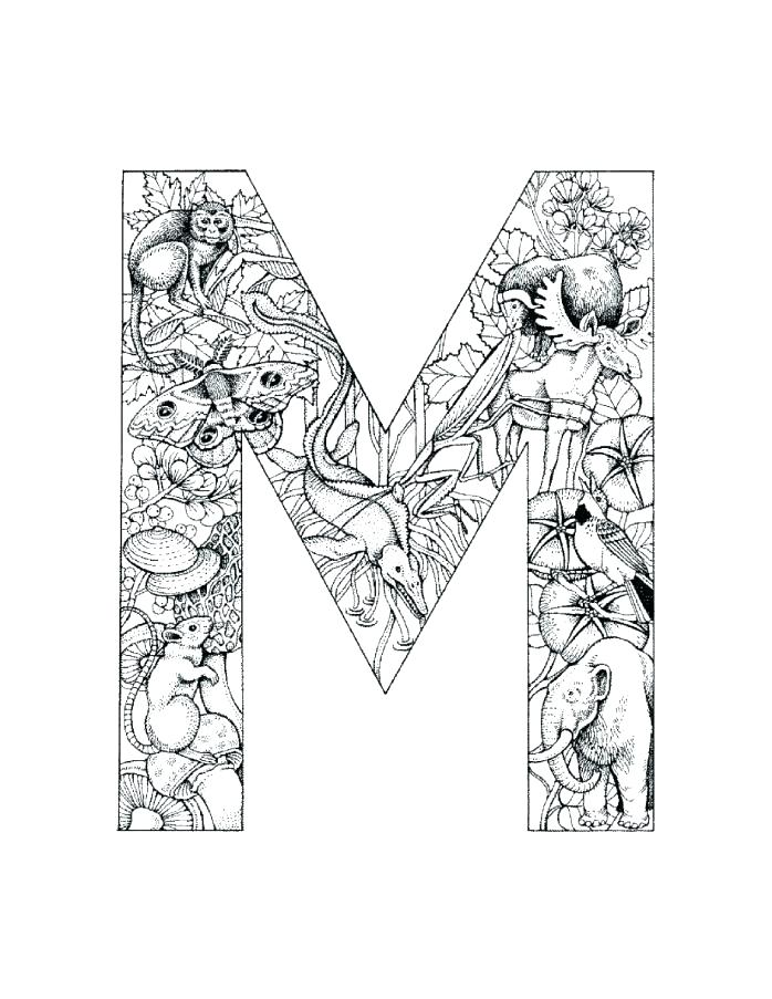 698x903 M Coloring Pages Letter I Coloring Sheet Letter M Coloring Pages