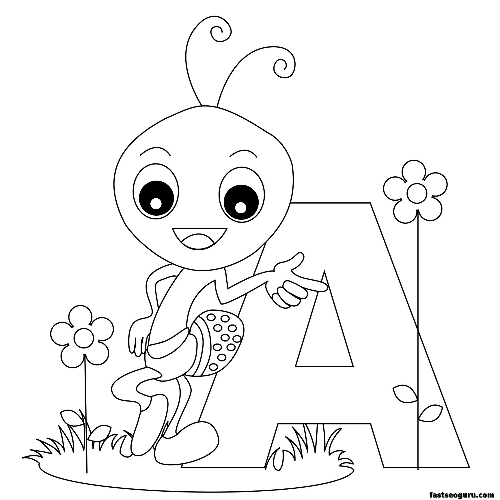 1732x1732 Animal Alphabet Worksheets Letter For Ant Printable Coloring Page