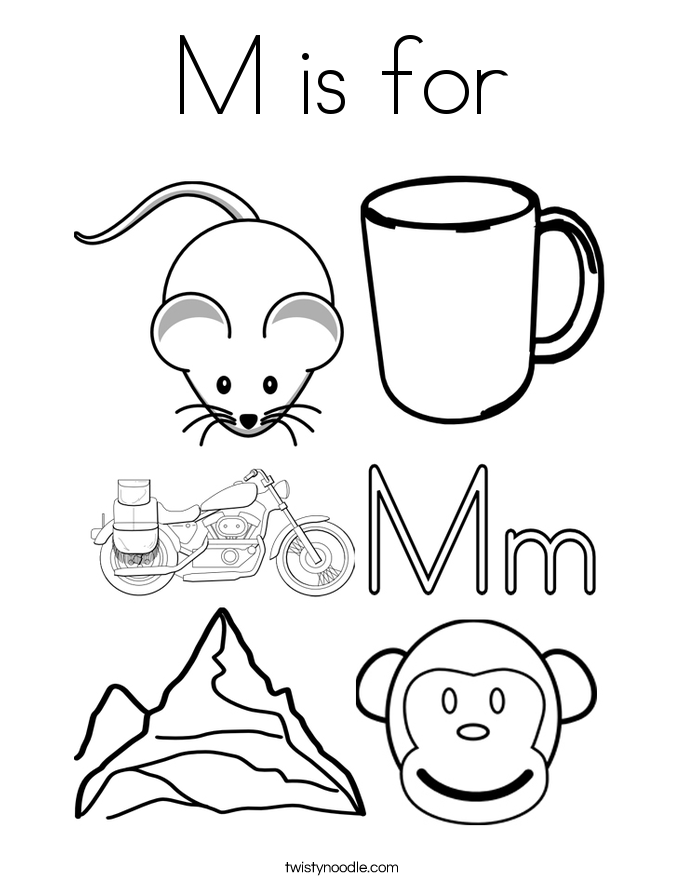 685x886 M Is For Coloring Page