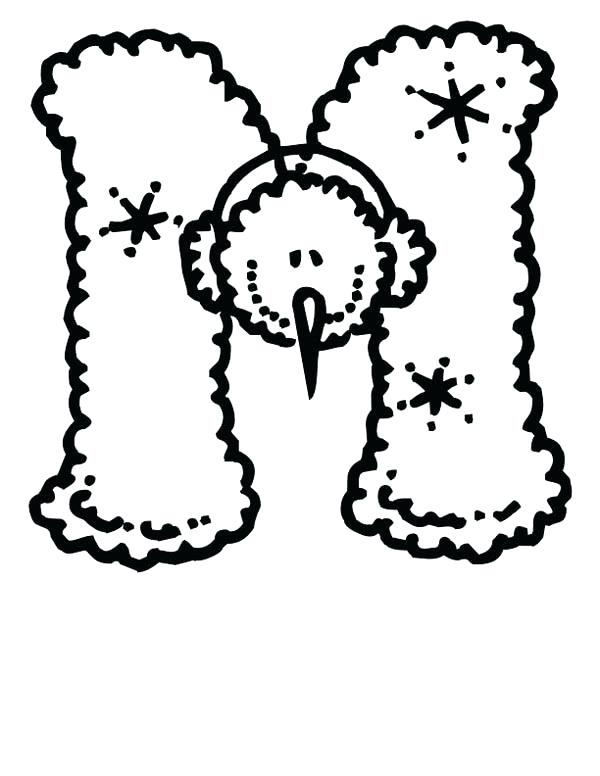 600x776 Letter M Coloring Page