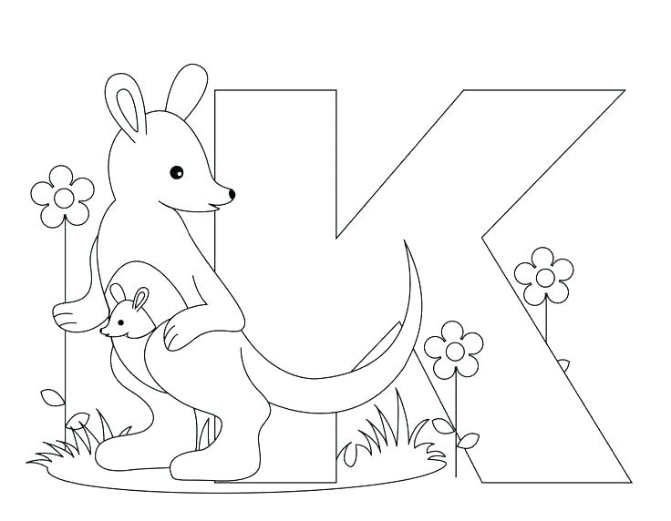 M Letter Coloring Pages