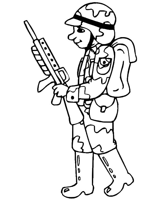 600x776 Drawing Military Soldier Coloring Pages Color Luna Within Decor