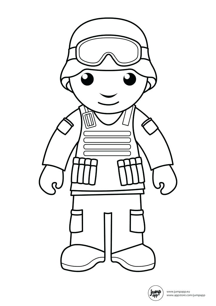 736x1041 Simple Decoration Soldier Coloring Pages With Page Free