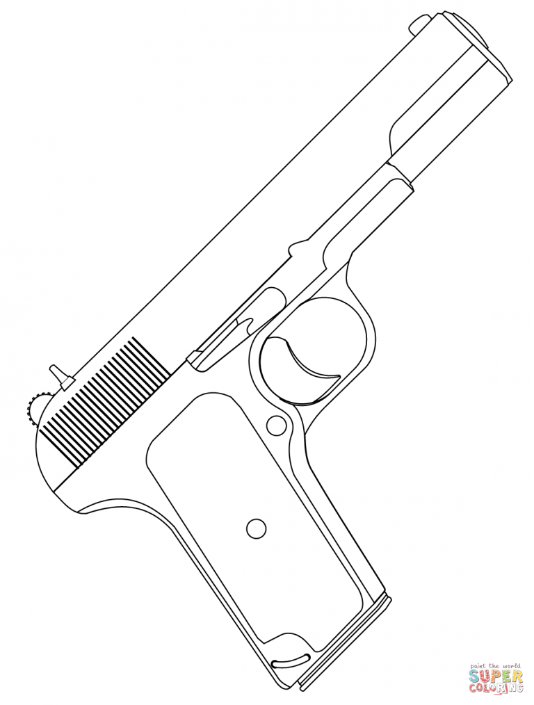 768x1014 Unique Ideas Gun Coloring Pages Handgun Coloring Page Free