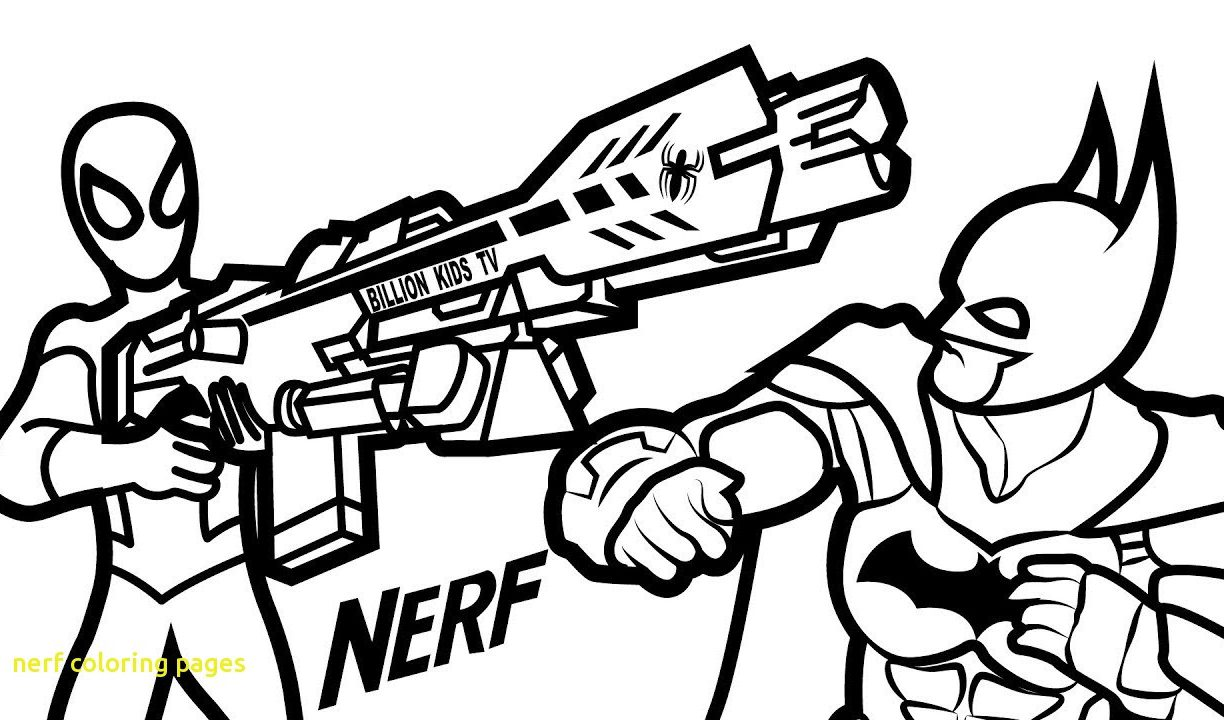 1224x720 Beautiful Nerf Gun Coloring Pages Colouring Sheet Printable Sheets