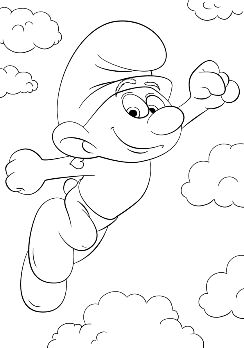 840x1200 Smurfs Coloring Pages