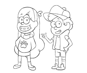 Mabel And Dipper Coloring Pages