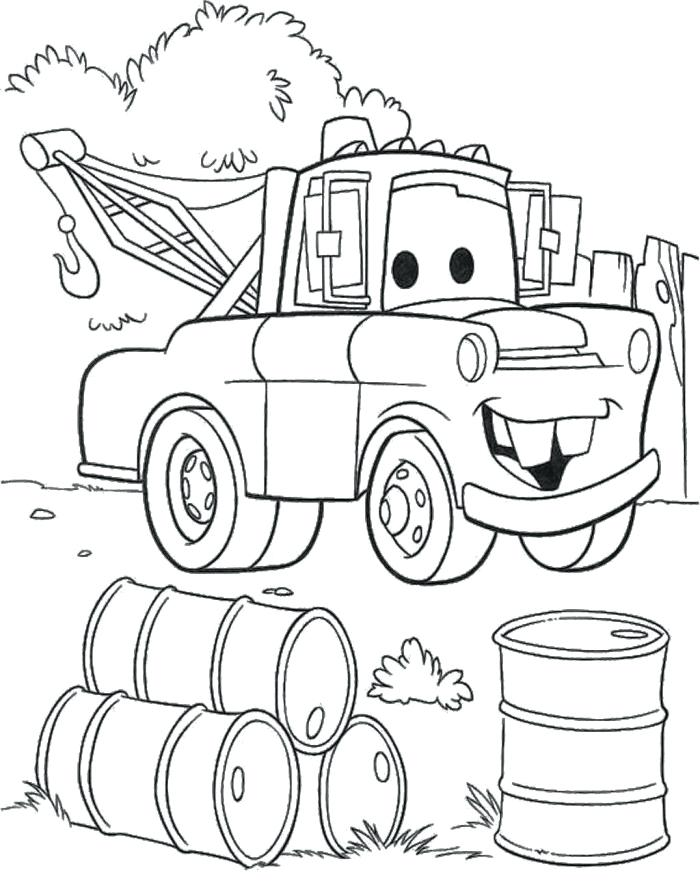 700x881 Cars And Trucks Coloring Pages Tow Truck Coloring Page Cars Mack