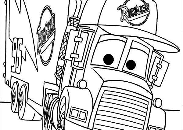 600x425 Mack Truck Coloring Pages Car Transporter Mack The Truck Coloring