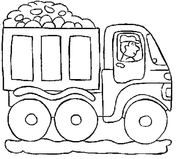 600x539 Car Transporter Truck Bring Rocks Coloring Pages Best Place To Color