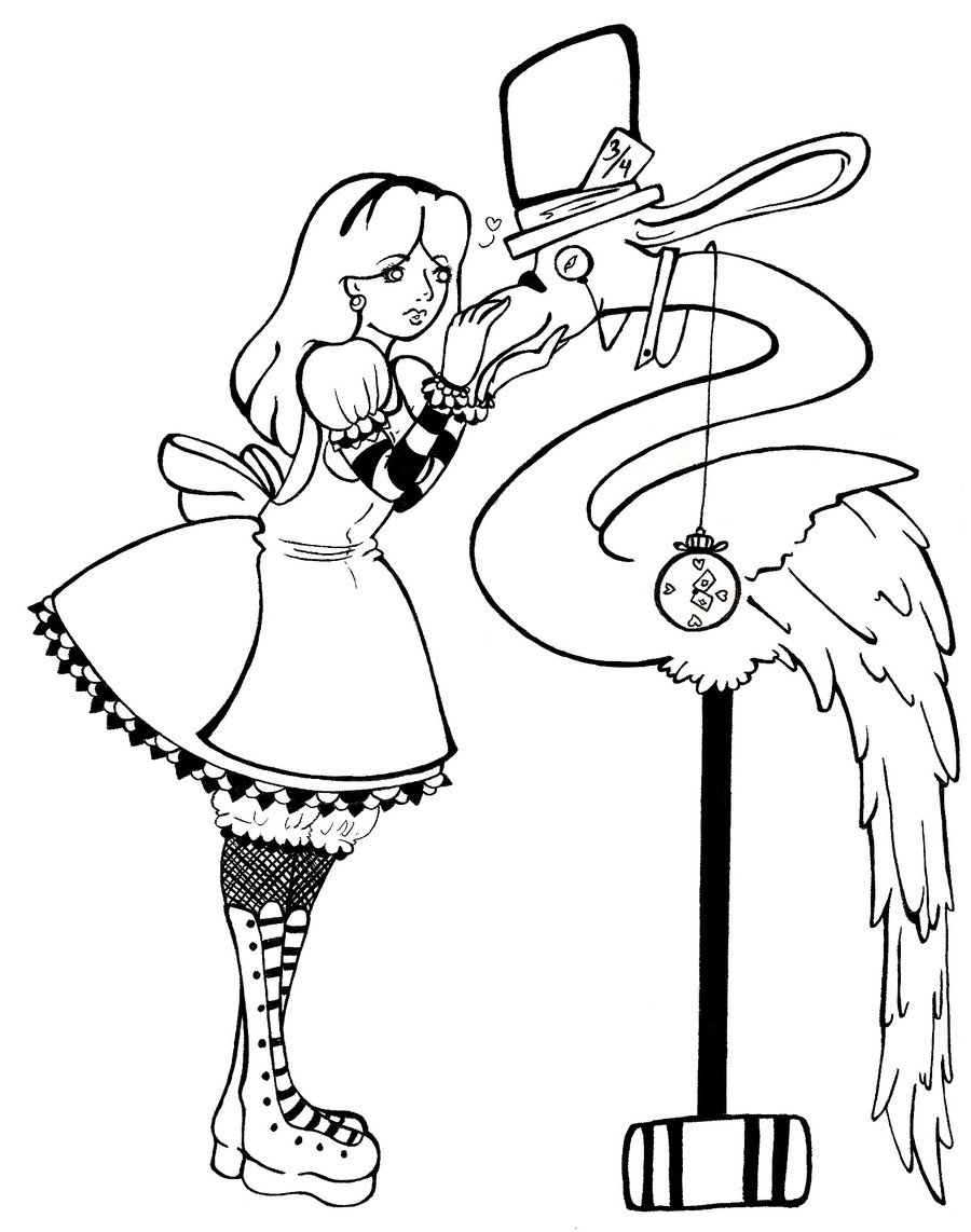 900x1142 Mad Hatter Cartoon Drawing On Anime Coloring Pages