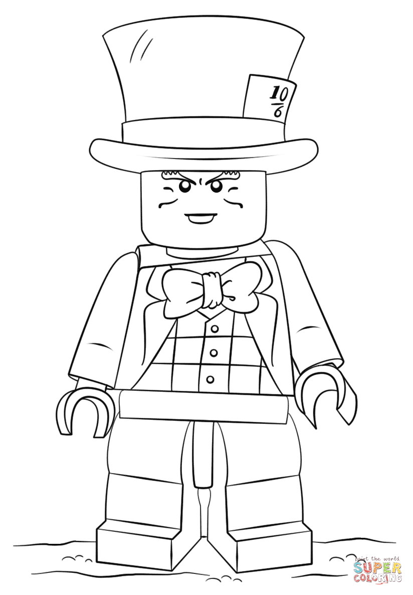 824x1186 Mad Hatter Coloring Pages