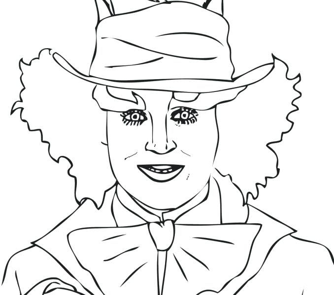 678x600 Mad Hatter Coloring Pages Mad Hatter Coloring Pages Packed