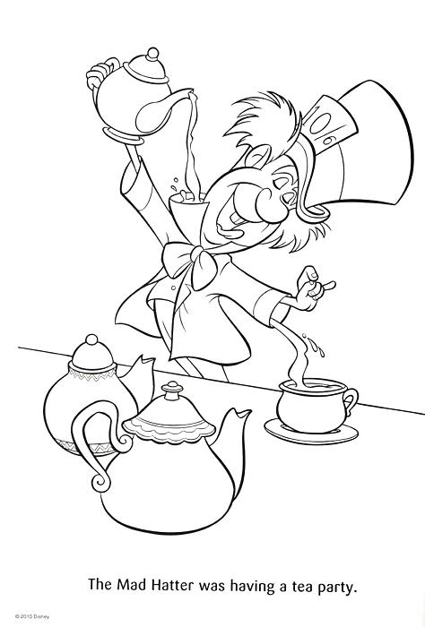 474x700 Mad Hatter Coloring Pages Mad Hatter Coloring Pages Photography