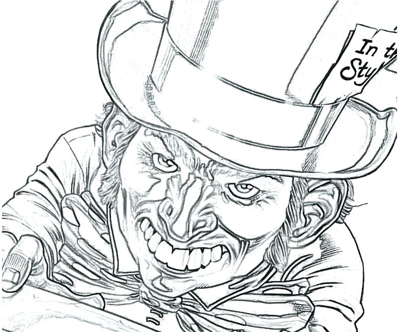 800x667 Mad Hatter Coloring Pages Free