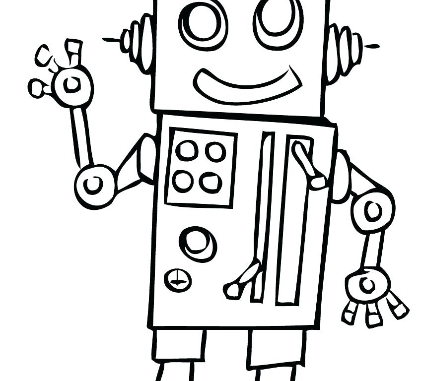 848x768 Scientist Coloring Pages Robot Coloring Pages Free Robot Coloring
