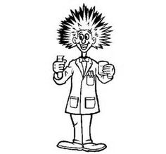 236x218 Halloween Coloring Page Mad Scientist