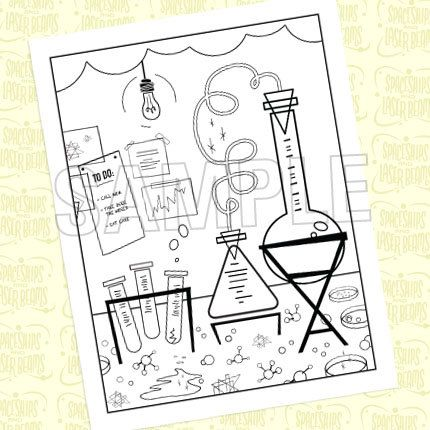430x430 Mad Science Birthday Party Coloring Page From The Mad Science Diy