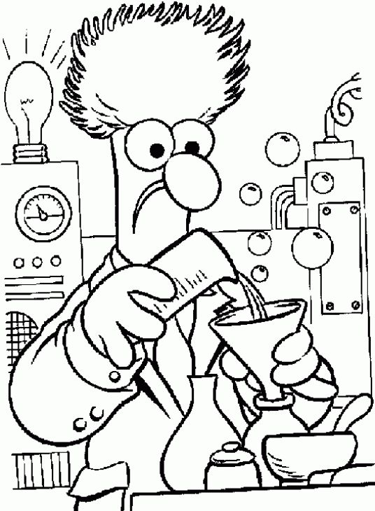 536x730 A Scientist Working In His Lab In Science Coloring Page Fun