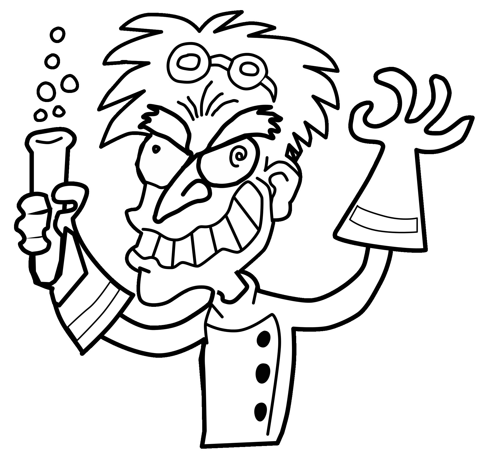 2000x1871 Mad Scientist Coloring Page Tixac