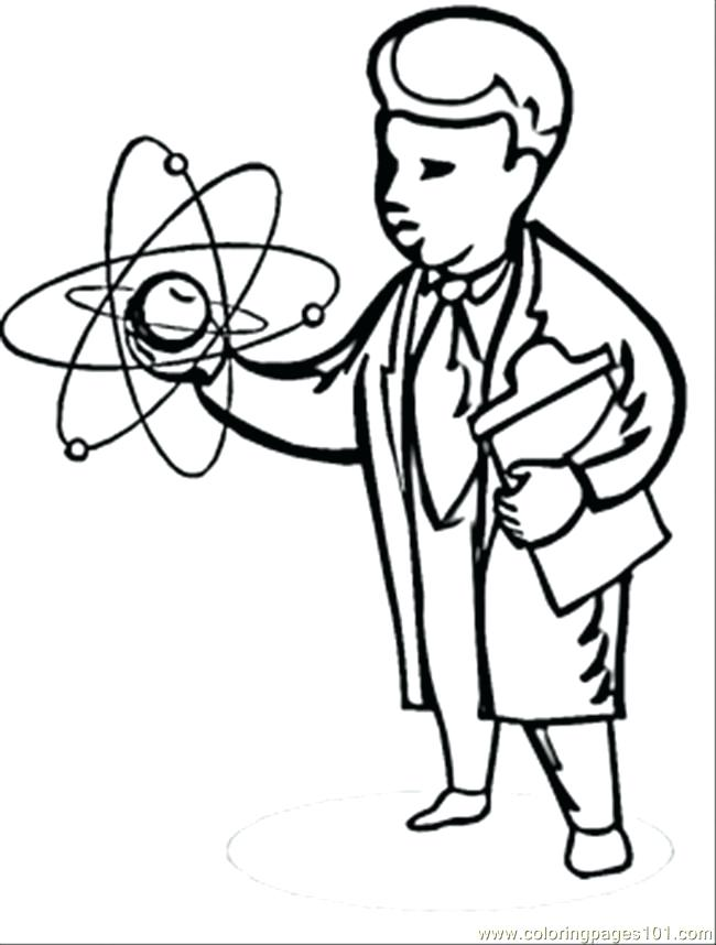 650x858 Scientist Coloring Page Free Physics Coloring Pages Scientist