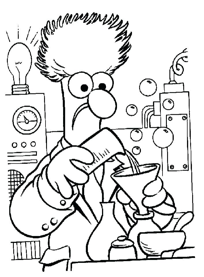 708x960 Scientist Coloring Pages New Science Coloring Page For Your