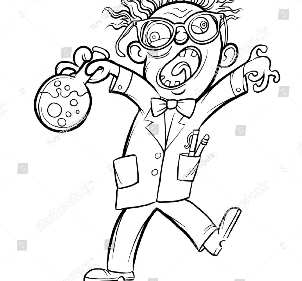 1160x1080 Free Mad Scientist Coloring Pages Sheets Girl Colouringrmidable
