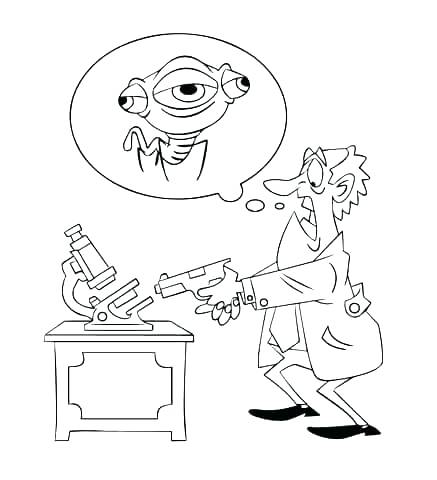 437x480 Free Printable Science Coloring Pages Scientist Coloring Page