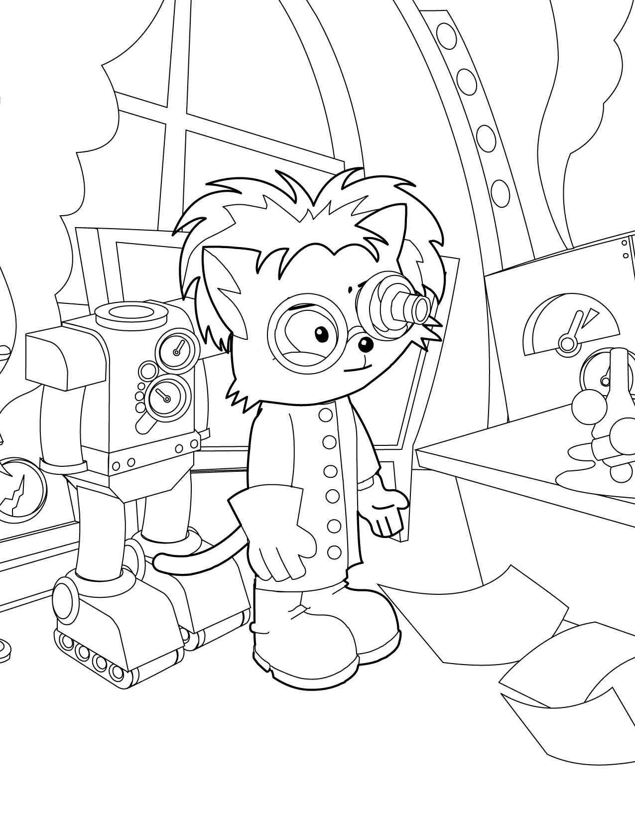 1275x1650 Mad Scientist Coloring Page
