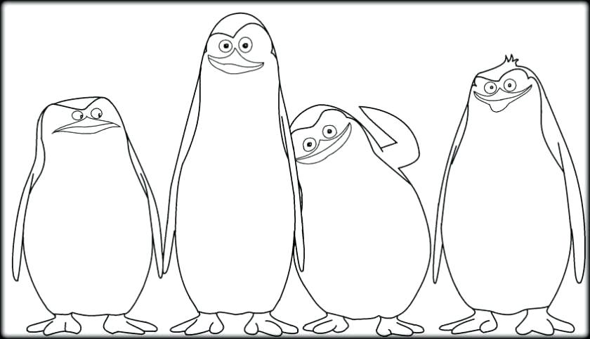 840x482 Madagascar Coloring Pages Amusing Penguins Of Coloring Pages