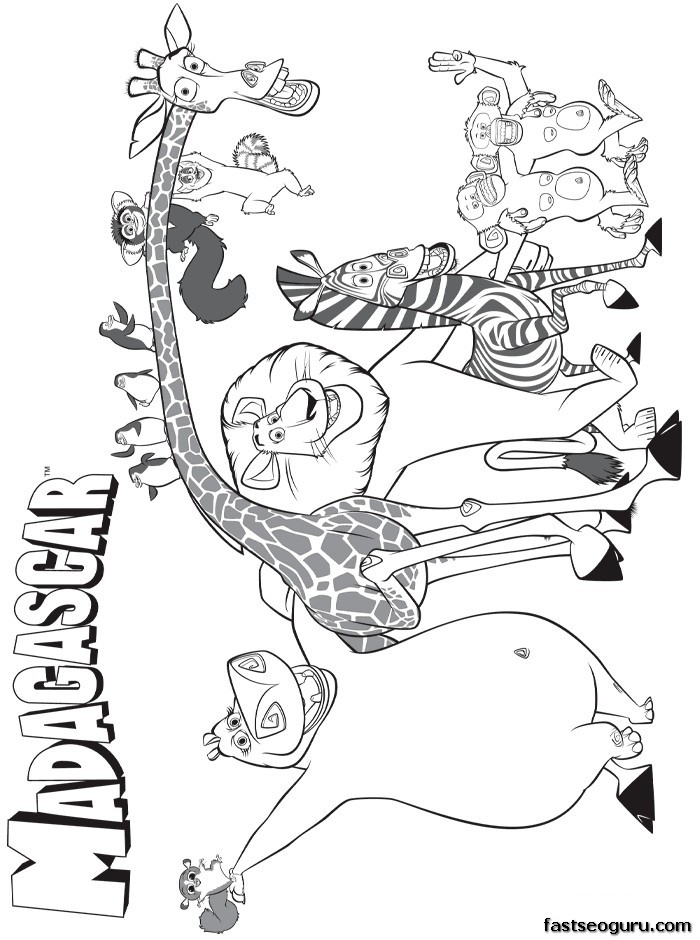 700x940 Madagascar Coloring Pages Elegant Printable Disney Madagascar Main