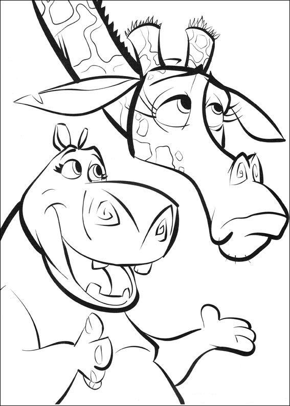 567x794 Madagascar Coloring Page