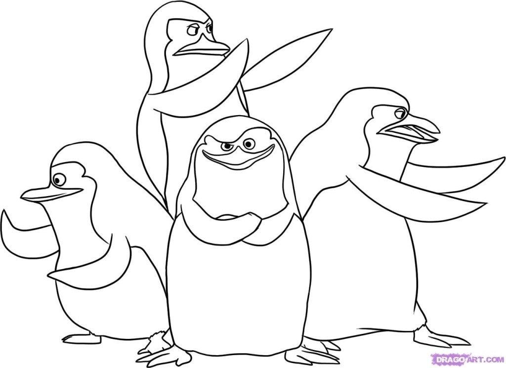 1024x745 Penguins Madagascar Coloring Pages Coloring Pages Penguins