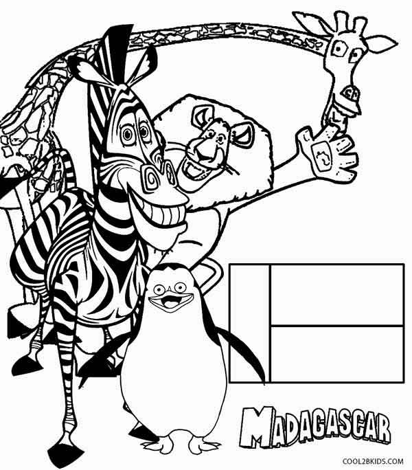 600x684 Printable Madagascar Coloring Pages For Kids