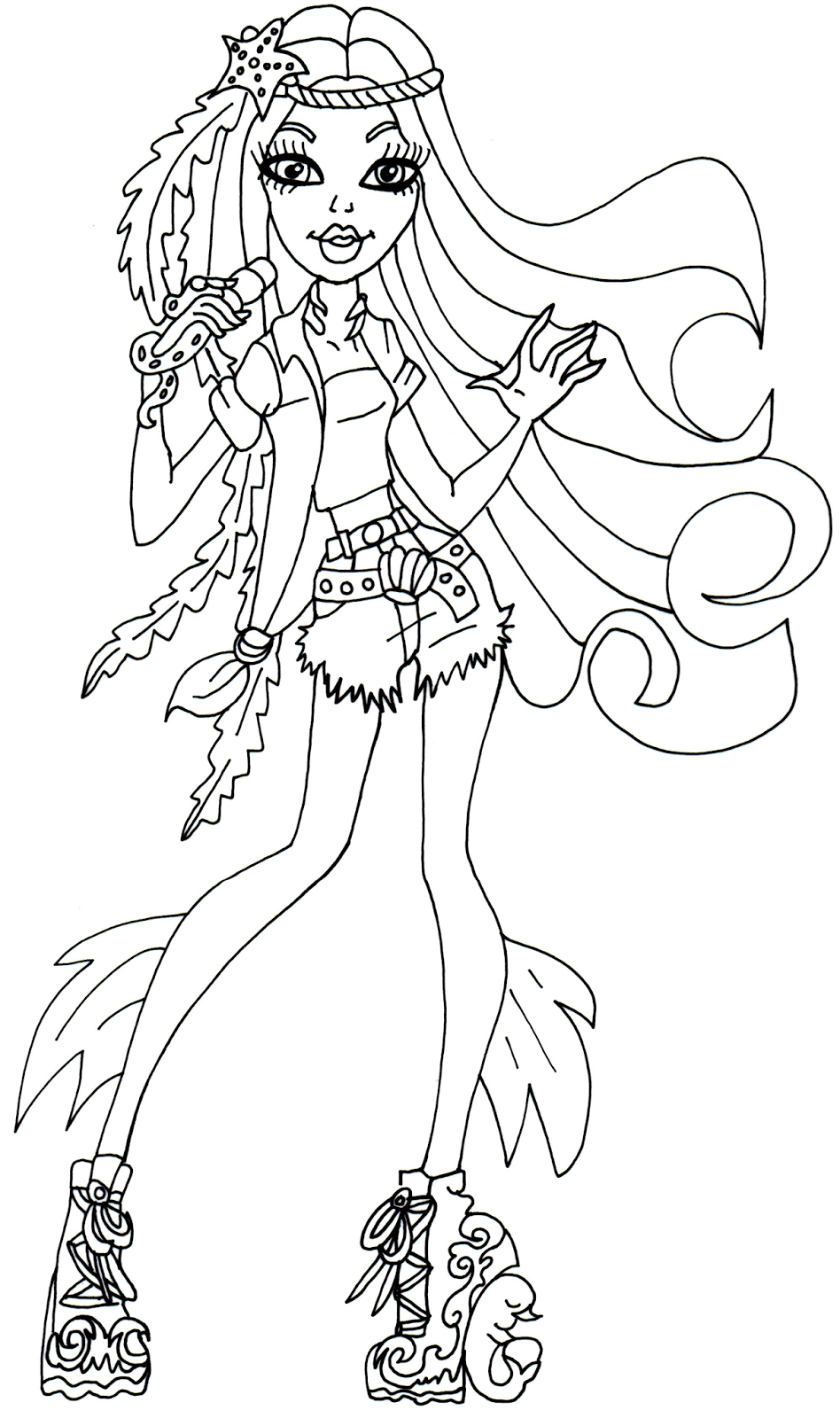 948x1600 Free Printable Monster High Coloring Page For Madison Fear Color