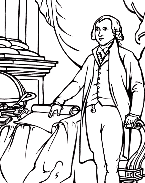 578x726 President James Madison Coloring Page Coloring Book