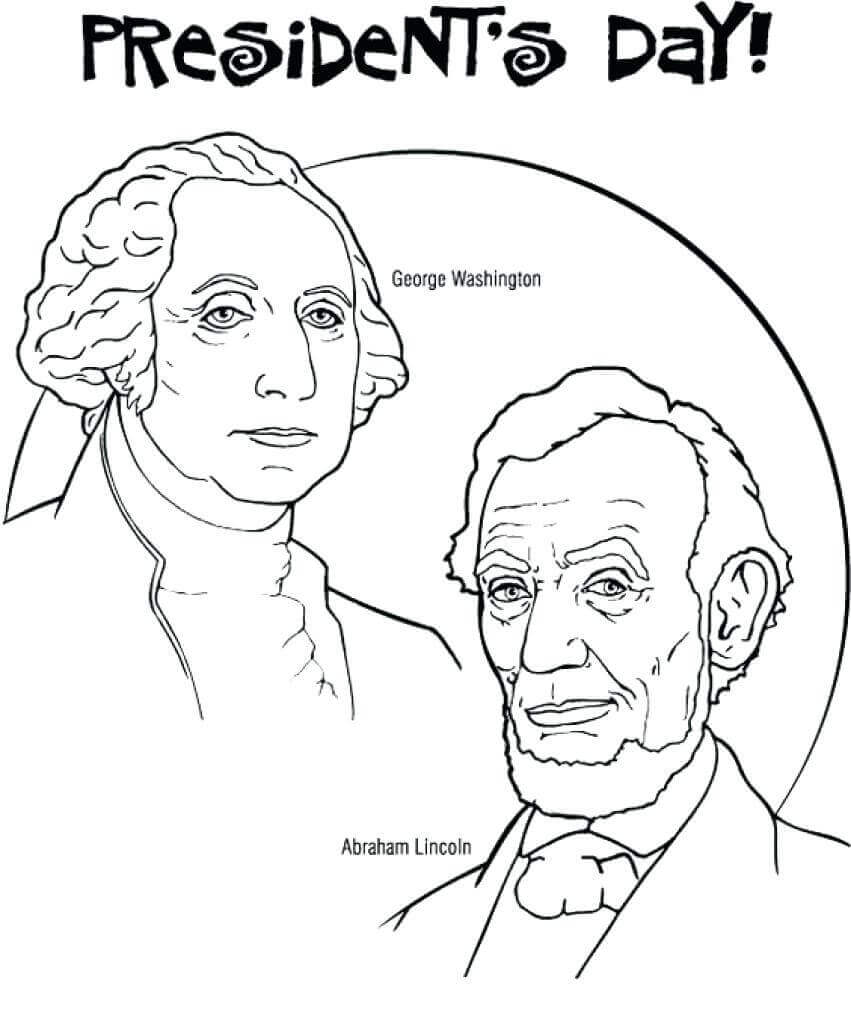 851x1024 Celebrations U S Presidents Day Coloring Pages Free Of Printable