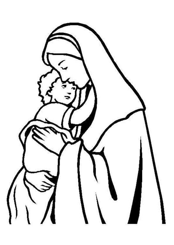 595x841 Jezus En Maria Kerst