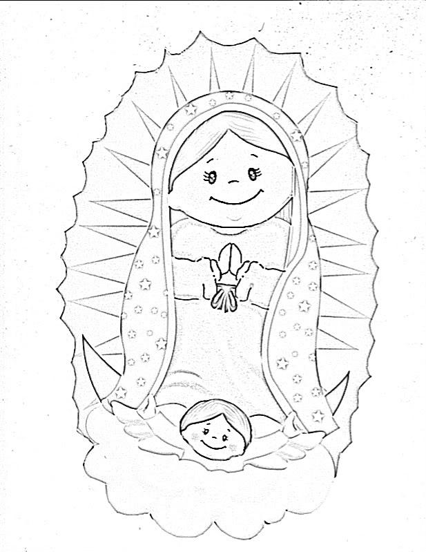 617x799 La Virgen De Guadalupe Coloring Pages