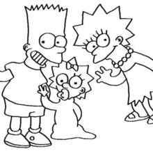 220x220 Lisa, Maggie And Bart Simpsons Coloring Pages