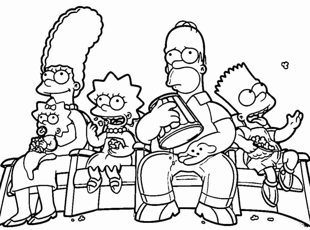 1080x800 Lisa Simpson Coloring Pages On Lisa Maggie And Bart Simpsons