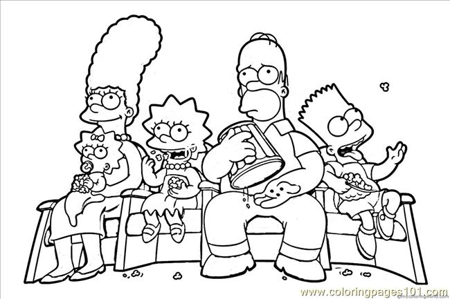 650x433 Maggie Simpson Crawling In The Simpsons Coloring Page Within Pages