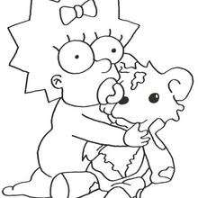 220x220 The Simpsons Coloring Pages