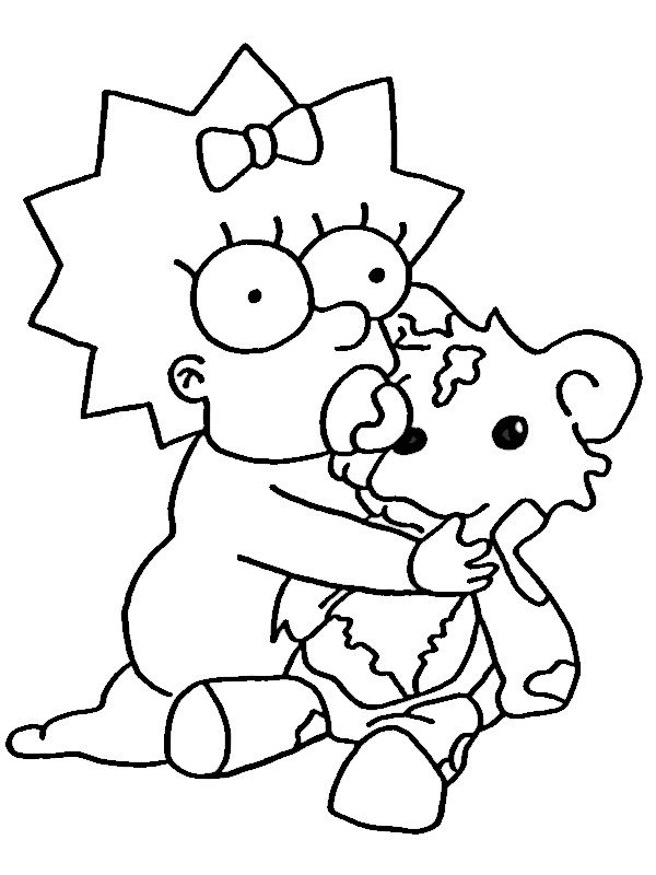 Maggie Simpson Coloring Pages At Getdrawingscom Free For